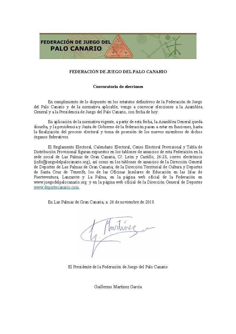 03 CONVOCATORIA ELECCIONES 2018