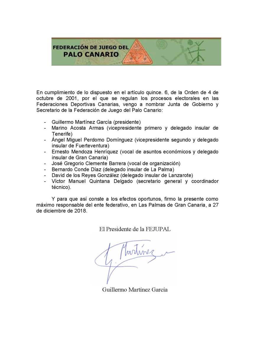 31 nombramiento junta de gobierno y secretario de la fejupal